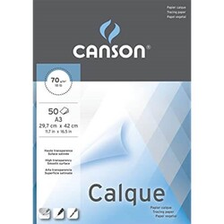 Canson - Canson Calque Tracing Paper Aydınger Bloğu A3 70Gr 50 Yp.