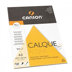 Canson - Canson Calque Tracing Paper Aydınger Bloğu A3 90Gr 50 Yp.