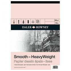 Daler Rowney - Daler Rowney Smooth Heavyweight Cart Pad A2 220Gr 25Sh