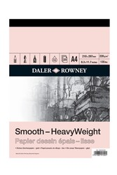 Daler Rowney - Daler Rowney Smooth Heavyweight Cart Pad A4 220Gr 25Sh