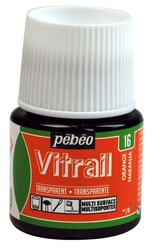Pebeo - Pebeo Vitrail Cam Boyası 45 ml 16 Orange