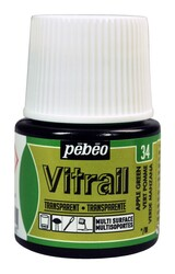 Pebeo - Pebeo Vitrail Cam Boyası 45 ml 34 Apple Green