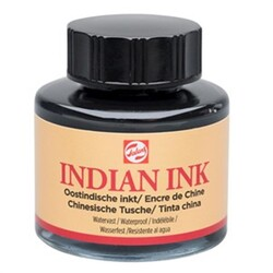 Talens - Talens Indian Ink 700 Black 30 ml