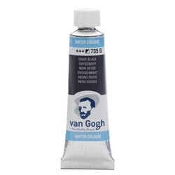 Talens - Talens Van Gogh Watercolour Tube 10ml - 735 G Oxide Black