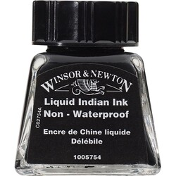 Winsor & Newton - Winsor & Newton Çizim Mürekkebi 14ml Liquid İndian